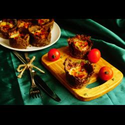 Рецепт: Ржаные мини-киши с рыбой