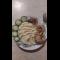 Фото Жареный минтай с картофельным пюре