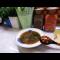 Фото Суп с зеленой чечевицей и консервированным рубцом