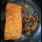 Фото Красная рыба в необычном маринаде с морепродуктами